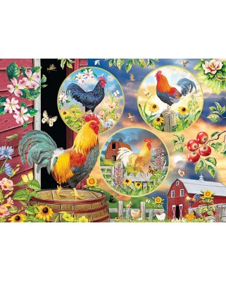 Puzzle Cobble Hill - Rooster Magic, 500 piese XXL (Cobble-Hill-85058)