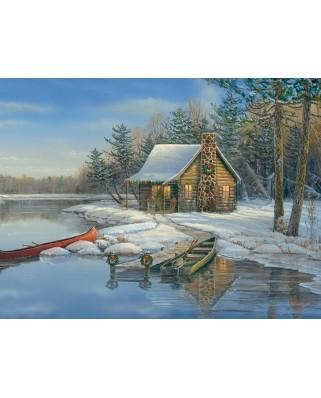 Puzzle Cobble Hill - Winter Cabin, 275 piese XXL (Cobble-Hill-88021)