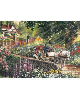 Puzzle Cobble Hill - Carriage Ride, 275 piese XXL (Cobble-Hill-88028)