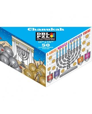 Puzzle Pigmen & Hue - Chanukah, 50 piese fata/verso (Pigment-and-Hue-DBLCHK-00905)