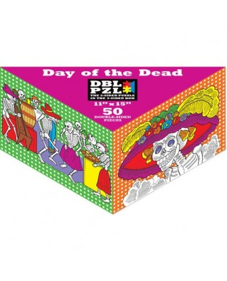 Puzzle Pigmen & Hue - Day of the death, 50 piese fata/verso (Pigment-and-Hue-DBLDOD-00802)