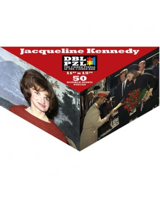 Puzzle Pigmen & Hue - Jacqueline Kennedy, 50 piese fata/verso (Pigment-and-Hue-DBLJBK-00903)