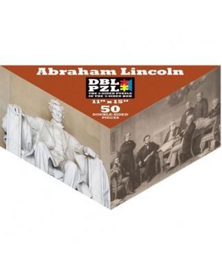 Puzzle Pigmen & Hue - Abraham Lincoln, 50 piese fata/verso (Pigment-and-Hue-DBLLINC-00803)