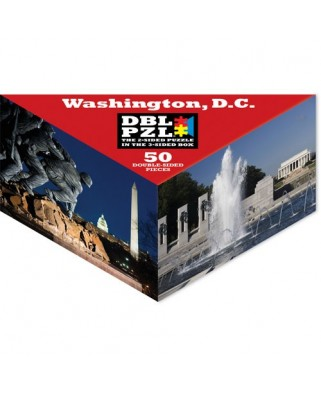 Puzzle Pigmen & Hue - Washington D.C., 50 piese fata/verso (Pigment-and-Hue-DBLWDC-00918)