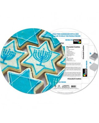 Puzzle rotund Pigmen & Hue - Cookies Chanukah, 140 piese (Pigment-and-Hue-RCHK-41204)
