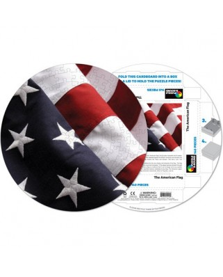 Puzzle rotund Pigmen & Hue - American Flag, 140 piese (Pigment-and-Hue-RFLAG-41210)