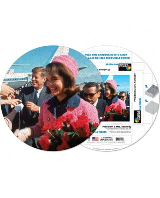 Puzzle rotund Pigmen & Hue - John Fitzgerald and Jackie Kennedy, 140 piese (Pigment-and-Hue-RJFK-41221)