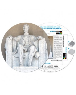 Puzzle rotund Pigmen & Hue - The Lincoln Memorial, 140 piese (Pigment-and-Hue-RLINC-41201)
