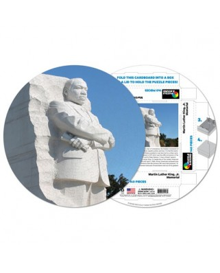Puzzle rotund Pigmen & Hue - Martin Luther King Memorial, 140 piese (Pigment-and-Hue-RMLK-41213)