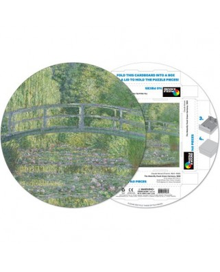 Puzzle rotund Pigmen & Hue - Claude Monet: Water Lilies, 140 piese (Pigment-and-Hue-RMONET-41207)