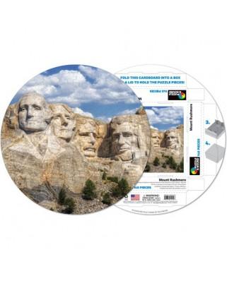 Puzzle rotund Pigmen & Hue - Mount Rushmore, 140 piese (Pigment-and-Hue-RMTRUSH-41219)