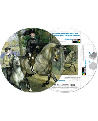 Puzzle rotund Pigmen & Hue - Auguste Renoir: Pierre Woman riding horse, 140 piese (Pigment-and-Hue-RRENR-41205)