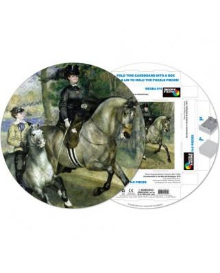 Puzzle rotund Pigmen & Hue - Auguste Renoir: Pierre Woman riding horse, 140 piese (Pigment-and-Hue-RRENR-41205)