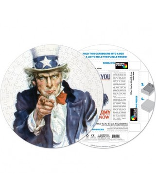 Puzzle rotund Pigmen & Hue - Uncle Sam, 140 piese (Pigment-and-Hue-RUNCLE-41209)