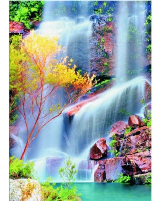 Puzzle Gold Puzzle - Waterfall, 1.000 piese (Gold-Puzzle-60034)