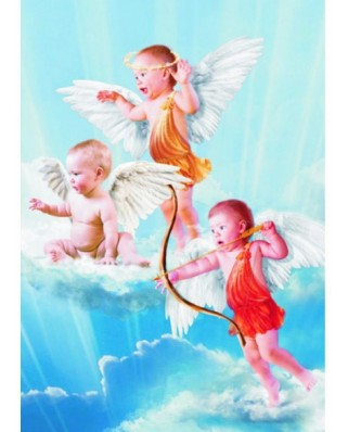 Puzzle Gold Puzzle - Three Little Angels, 1.000 piese (Gold-Puzzle-60072)