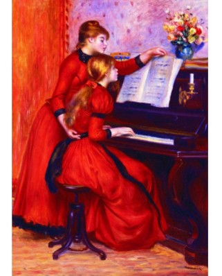 Puzzle Gold Puzzle - Auguste Renoir: Young Girls at the Piano, 1.000 piese (Gold-Puzzle-60232)