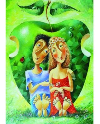 Puzzle Gold Puzzle - Yuri Macik: Romanticism, 1.000 piese (Gold-Puzzle-60478)