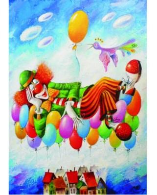 Puzzle Gold Puzzle - Yuri Macik: Clown's Dream, 1000 piese (Gold-Puzzle-60577)