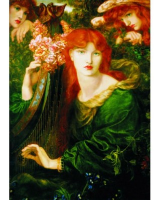 Puzzle Gold Puzzle - Dante Gabriel Rossetti: La Ghirlandata, 1.000 piese (Gold-Puzzle-60584)