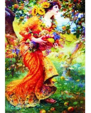 Puzzle Gold Puzzle - Franz Dvorak: In the Orchard, 1.000 piese (Gold-Puzzle-60591)