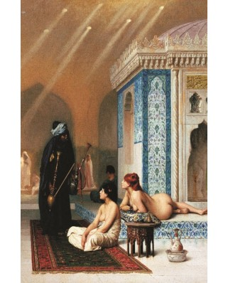 Puzzle Gold Puzzle - Jean-Leon Gerome: The Pool Of Harem, 1000 piese (Gold-Puzzle-60607)