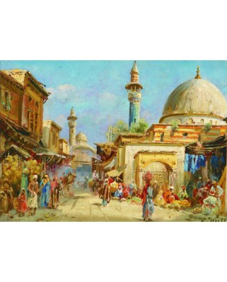 Puzzle Gold Puzzle - Carl Wuttke: Orientalist Street View, 1.000 piese (Gold-Puzzle-60744)