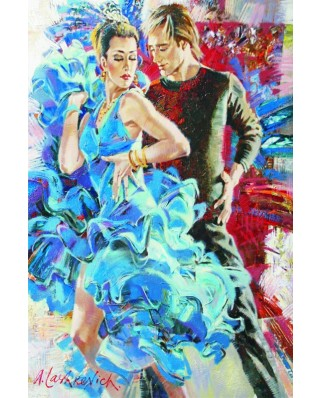 Puzzle Gold Puzzle - Dance in the Blue Tones, 2.000 piese (Gold-Puzzle-61024)
