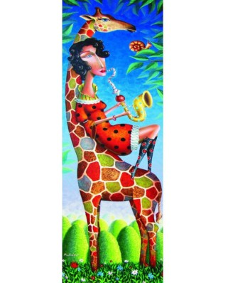 Puzzle Gold Puzzle - Jazz for a Giraffe, 1.000 piese (Gold-Puzzle-61161)