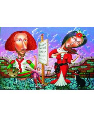 Puzzle Gold Puzzle - Musical Portrait, 1.000 piese (Gold-Puzzle-61338)