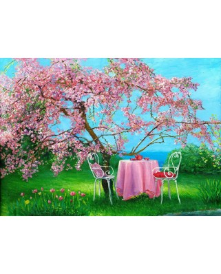 Puzzle Gold Puzzle - Spring in Plum Garden, 500 piese (Gold-Puzzle-61499)