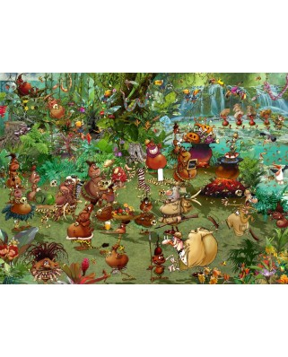 Puzzle Grafika - Francois Ruyer: Tribal Safari, 2.000 piese (02967)