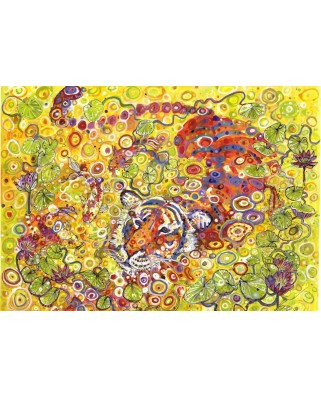 Puzzle Grafika - Sally Rich: Swimming Tiger, 1.000 piese (02972)