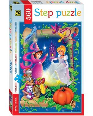 Puzzle Step - Cinderella, 560 piese (78099)
