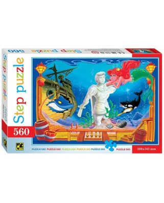 Puzzle Step - The Little Mermaid, 560 piese (78100)