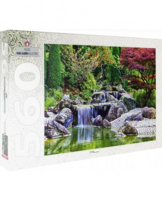 Puzzle Step - Waterfall At Japanese Garden, Bonn, Germany, 560 piese (78103)
