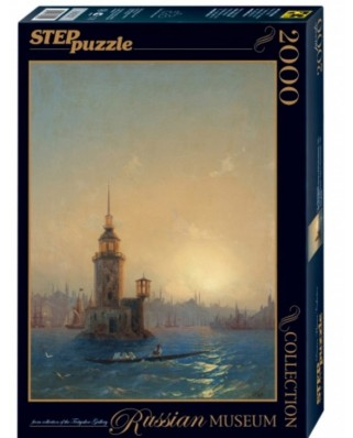 Puzzle Step - Ivan Aivazovsky: View of Leandrovsk in Constantinople, 2.000 piese (84202)
