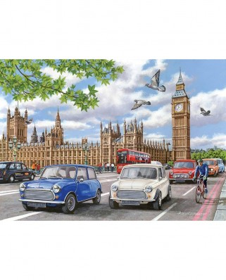 Puzzle The House of Puzzles - Classic Style, 500 piese XXL (The-House-of-Puzzles-4883)