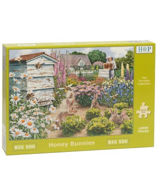 Puzzle The House of Puzzles - Honey Bunnies, 500 piese XXL (The-House-of-Puzzles-4890)