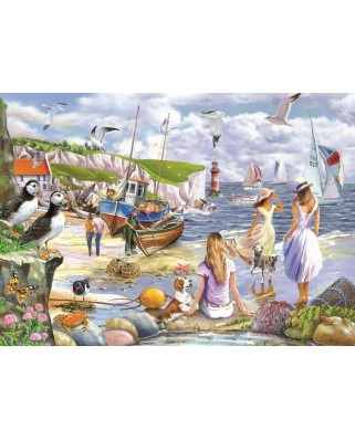 Puzzle The House of Puzzles - Sea Shore Breezes, 500 piese XXL (The-House-of-Puzzles-4937)