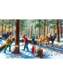 Puzzle SunsOut - Lumber Jacks, 300 piese XXL (Sunsout-39545)