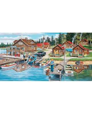 Puzzle SunsOut - Timber Lodge, 300 piese XXL (Sunsout-39610)