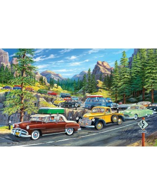 Puzzle SunsOut - Holiday Traffic, 300 piese XXL (Sunsout-39778)