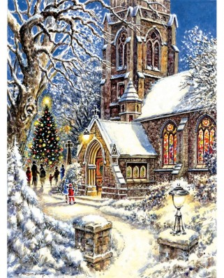 Puzzle SunsOut - Church in the Snow, 300 piese (Sunsout-44121)