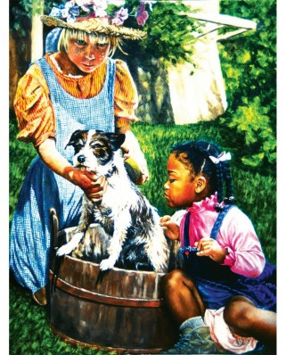 Puzzle SunsOut - Washing the Dog, 300 piese (Sunsout-44320)