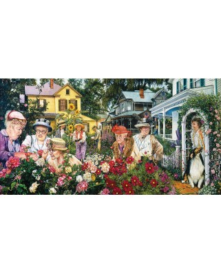 Puzzle panoramic SunsOut - Garden Club Ladies, 300 piese (Sunsout-44391)