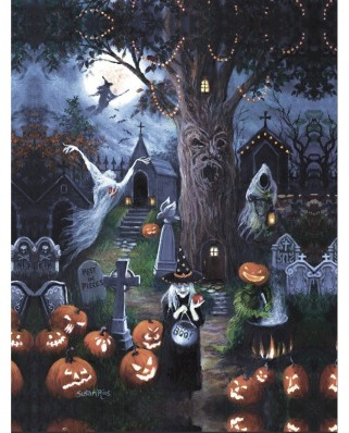 Puzzle SunsOut - Halloween Night, 300 piese (Sunsout-45402)