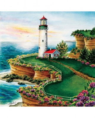 Puzzle SunsOut - Lighthouse Sunset, 500 piese (Sunsout-45622)