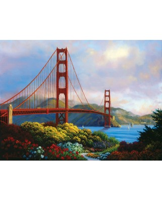 Puzzle SunsOut - Morning at the Golden Gate, 300 piese (Sunsout-48511)