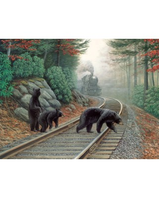 Puzzle SunsOut - Bear Tracks, 500 piese (Sunsout-48804)